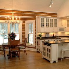 Nautical Log Home Design Ideas, Pictures, Remodel, and Decor - page 3
