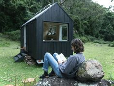 reading a book Wilderness retreat