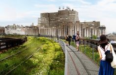 Rendering of the Stage 3 of the High Line Park in NYC