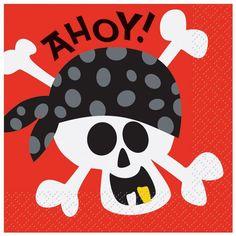 Pirate Beverage Napkins, 16ct Birthday Party Tables, Birthday Cup, Pirate Birthday, Pirate Theme, Birthday Ideas, Birthday Supplies, Birthday Celebration, Pirate Party Supplies, Party Napkins
