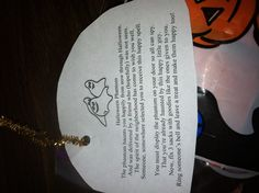 Saw this while subbing today; too cute not to share. Halloween secret pal gift tag
