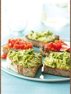 Bruschette with avocado for You breakfast :)