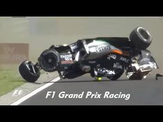 F1 2015 Hungarian GP Sergio Perez Crash - YouTube