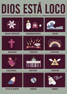 Cinismo Ilustrado: Dios está loco Me parece tan lindo esto....pura psicologia :3