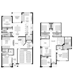Portofino - Fowler Homes Sims House Plans, Dream House Plans, House Floor Plans, Double Storey House Plans, Double Story House, Home Design Floor Plans, Dream Home Design, House Design, 5 Bedroom House Plans