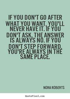 Always step forward!