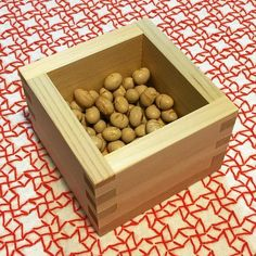 #節分 #豆まき #おにはそと #ふくはうち  #2人合わせて64粒食べる #刺し子 #刺し子ふきん #sashiko #japan