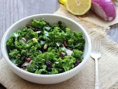 Image result for Kale with Apples, Currants, and Warm Pancetta Vinaigrette