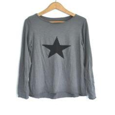 Camiseta estrella gris
