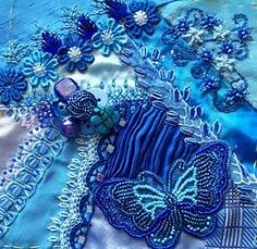 crazy quilting by Nancy Brooke Mathers
