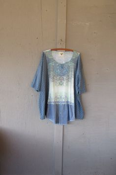 one size plus size upcycled tunic poncho / by lillienoradrygoods