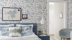 Poetry wallpaper from BorasTapeter - 7108 Scandinavian Style Bedroom, Scandinavian Wallpaper, Scandinavian Interior Design, Home Interior, Bespoke Furniture, Luxury Furniture, Furniture Design, Poetry Wallpaper, Zen Interiors