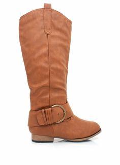single buckle boots