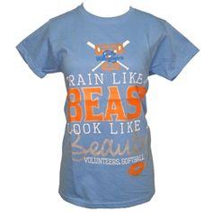 Tennessee Lady Vols Softball TRAIN LIKE A BEAST LOOK LIKE A BEAUTY T-shirt