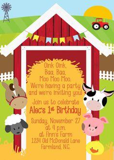 Barn Yard Birthday Invitation