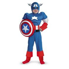 Captain America Classic Muscle (The Avengers) Boy's Costume