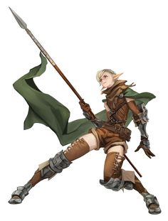 If Im in a fantasy world. Character Poses, Character Portraits, Character Design References, Game Character, Fantasy Warrior, Fantasy Rpg, Medieval Fantasy, Elf Warrior, Warrior Pose