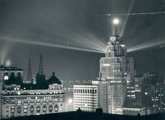 Detroit, Michigan Photo from HistoricDetroit.org The Penobscot Building at night in 1929, a year after it opened.