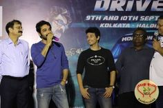 Team Kakababu consisting of Prosenjit Chatterjee, Aryann, Indraadip Dasgupta and others flagged off the Monsoon Drive- Car Rally from Acropolis Mall.