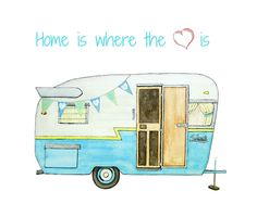 If You Like Vintage Campers Youll Love This Watercolor Illustration Of One And