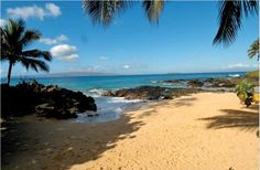 Makena Cove (Secret Beach) in Maui. My daughter is named after this beautiful beach.  Makena means Happiness :)