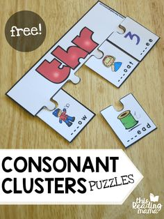 FREE Consonant Clusters Puzzles - This Reading Mama