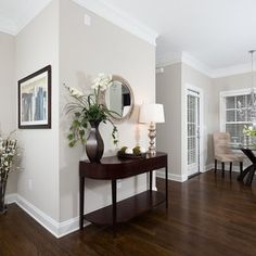 dark wood floors Jacobean stain on red oak with a - flooring Baseboard Styles, Baseboard Molding, Baseboard Heaters, Baseboard Ideas, Crown Molding, Moulding, Jacobean Stain, Flur Design, Floor Colors