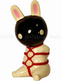 cream colored bunny kinbaku bank.
