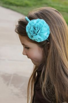 Girl. Inspired.: frayed flower and headband how-to