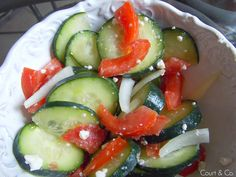 Court & Co. #cucumber #salad   http://court-and-company.blogspot.com/2015/02/cucumber-salad.html   #courtandcompany #lifestyleblog #healthy #healthyeating