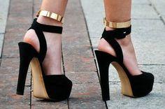 Zara Black High Heel Sandal