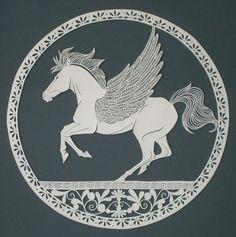 """Pegasus"" paper cut by Michael Lomax"