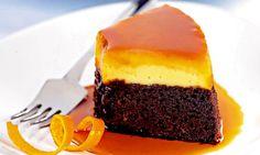 Bolo pudim de chocolate e laranja - http://www.receitasparatodososgostos.net/2016/01/22/bolo-pudim-de-chocolate-e-laranja/