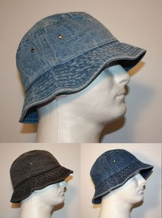16f6b319bf7 MEN 100% COTTON DENIM FISHING BUCKET HAT CAP - SMALL   MEDIUM or LARGE   XL  DB1