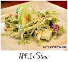 Apple Slaw - ok this is an awesome side dish!!