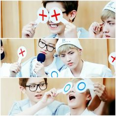 Krisyeol super cutesy exo kris chanyeol kris is so cute Kris Exo, Exo K, Park Chanyeol, Baekhyun, Make Funny Faces, Exo Group, Exo Couple, Girls Album, Solo Pics