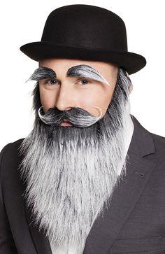 Grey False Fake Old Man Wizard Beard Moustache Eyebrows Fancy Dress Costume Set Diana, Old Men, Moustache, Fancy Dress, Eyebrows, Halloween Face Makeup, Costumes, Dresses, Women