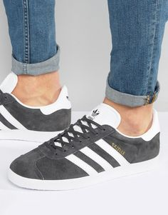 reputable site 45b1a 06801 adidas Originals Gazelle Sneakers In Gray BB5480