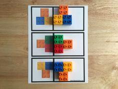 Actividad de simetría con ladrillos LEGO DUPLO - MOM BRICKS