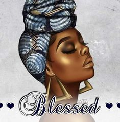 Black Girl Cartoon, Black Girl Art, African Head Scarf, Black Women Quotes, African Crafts, Black Art Pictures, Afro Girl, Black Artwork, Black Image