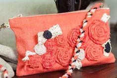 Women bag. Linen shoulder bags. Fabric boho от TanyaLimaHandmade