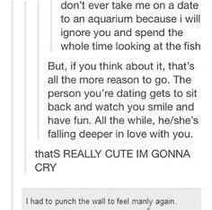 """I had to punch the wall to feel manly again"" lol soooo funny! My Tumblr, Tumblr Posts, Tumblr Funny, Disney Funny Tumblr, Funny Tumblr Comments, Funny Quotes, Funny Memes, That's Hilarious, Hilarious Animals"