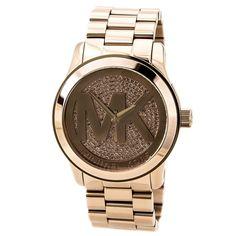 Michael Kors MK5661 Women's Uptown Glam Runway Oversized Rose Gold Steel Watch