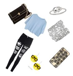 """Casual for all day and all night"" by acro-diva ❤ liked on Polyvore featuring beauty, Glamorous, La Preciosa, Sonix, Tatty Devine and Salvatore Ferragamo"