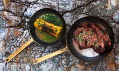 Grilled rib-eye with sweetcorn and coriander butter, April Bloomfield