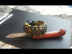 Плетение браслета кобра из паракорда. И пакет выживания !!!