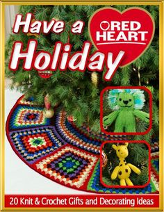 Round Granny Squares - Have a red heart holiday 20 knit crochet gifts and decorating ideas