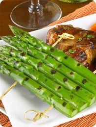 Grilled Rack of California Grown Asparagus #CAgrown