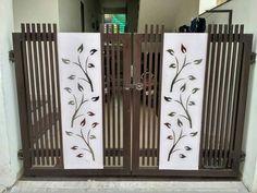 Gate Wall Design, Steel Gate Design, Front Gate Design, Bedroom Door Design, Wooden Door Design, Door Design Interior, Simple Main Gate Design, Simple Gate Designs, Gate Designs Modern