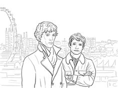 Sherlock BBC Coloring Page From Holmes Category Select 30017 Printable Crafts Of Cartoons Nature Animals Bible And Many More